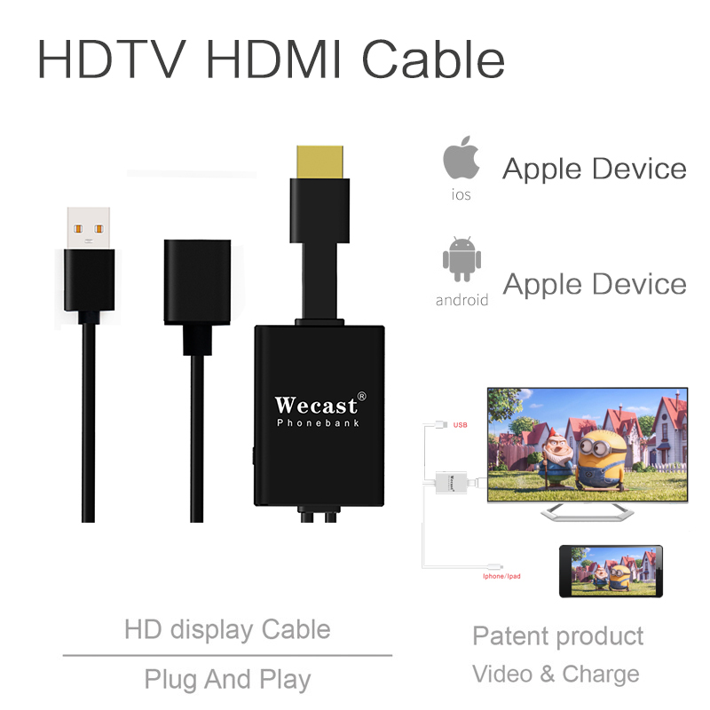 Wecast I8 wired HDTV dongle_802 11 ac wifi dongle for android tv box